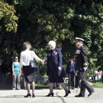 Ms. Dowdeswell greets dignitaries at Queen's Park