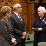 Ms. Dowdeswell swears the oath of allegiance