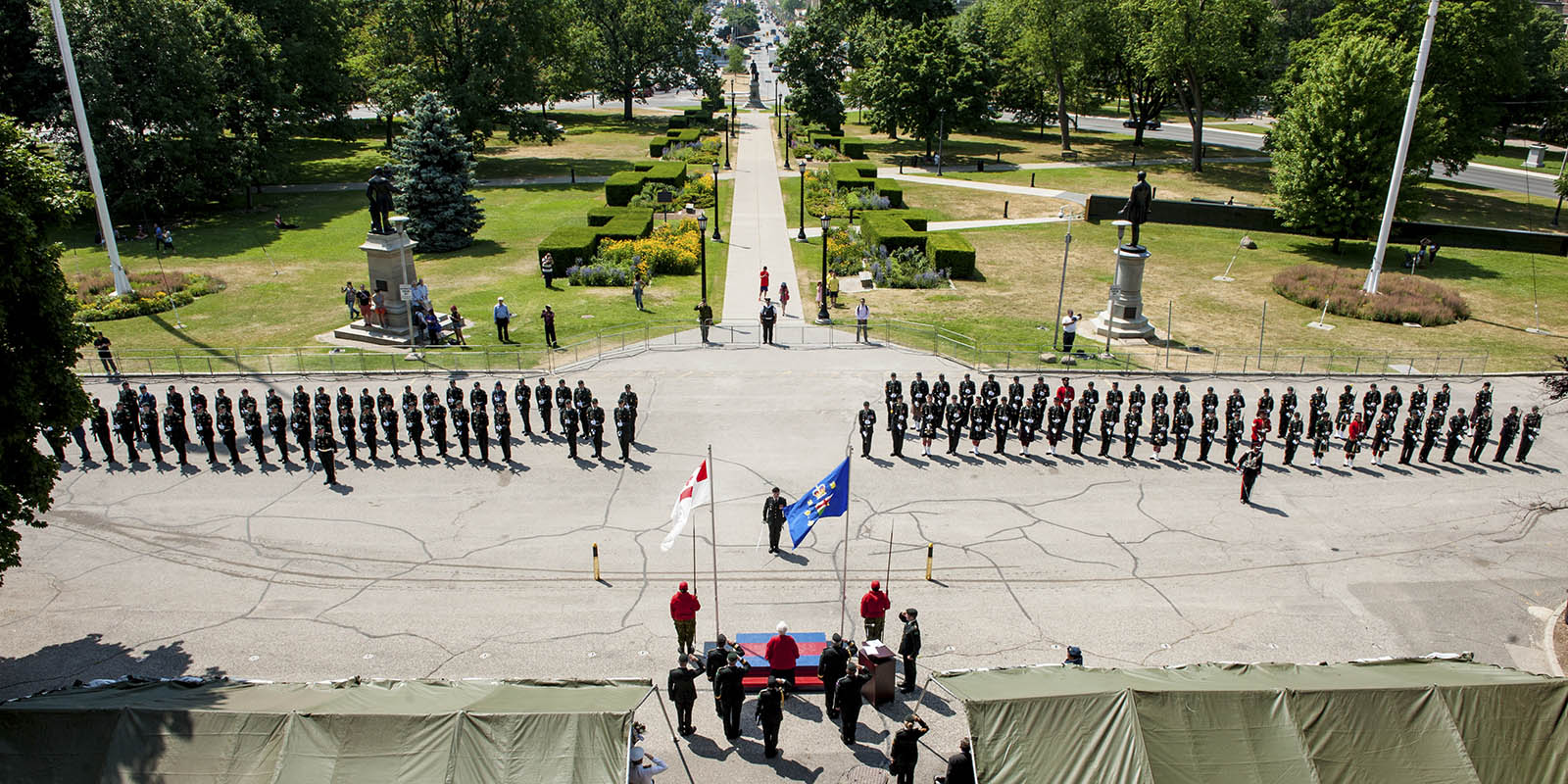 4th Canadian Division change of command ceremony