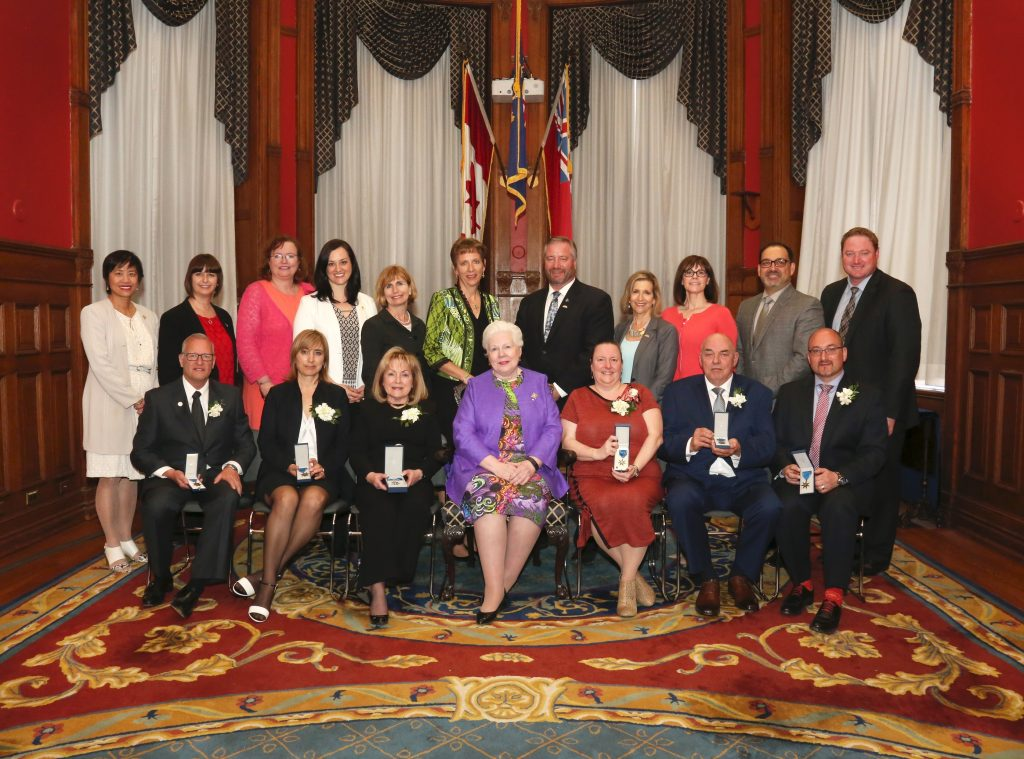 HH with Recipients of Ordre de la Pleiade and Speakers