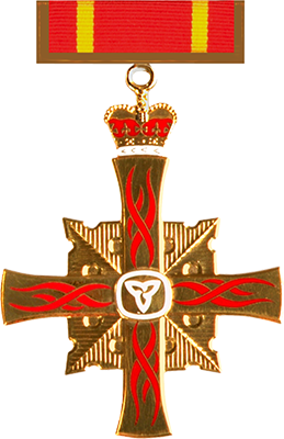 Ontario Medal for Firefighter Bravery insignia