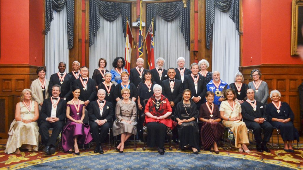 The Lieutenant Governor, the Premier, and new Members of the Order of Ontario