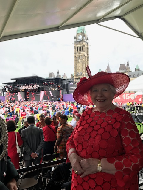 The Lieutenant Governor on Parliament Hill during the Canada Day Noon Show