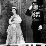 October 14, 1957: Prince Philip accompanies The Queen prior to her reading the Speech from the Throne