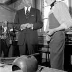 March 21, 1966: Prince Philip speaks with a student at Variety Village in Toronto