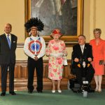 July 6, 2010: The Queen and Prince Philip meet with Lieutenant Governor David Onley, Mrs. Onley, Ontario Regional Chief Angus Tolouse, and Canadian and American representatives of the 1812 Bicentennial Commission