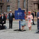 July 6, 2010: Prince Philip looks on as The Queen unveils a plaque at Queen's Park