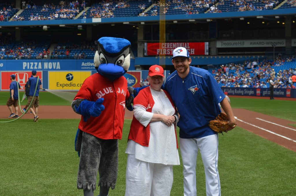 First Pitch at Blue Jays Game