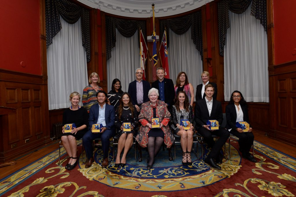 The Lieutenant Governor presents awards to winners of the Visionaries Prize