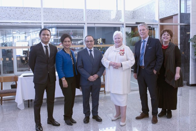 Her Honour with Mayor, Spouse, and Ambassador of Indonesia and Family