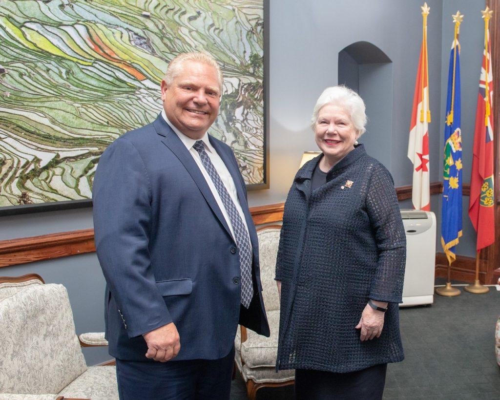 The Lieutenant Governor and Premier-designate Doug Ford