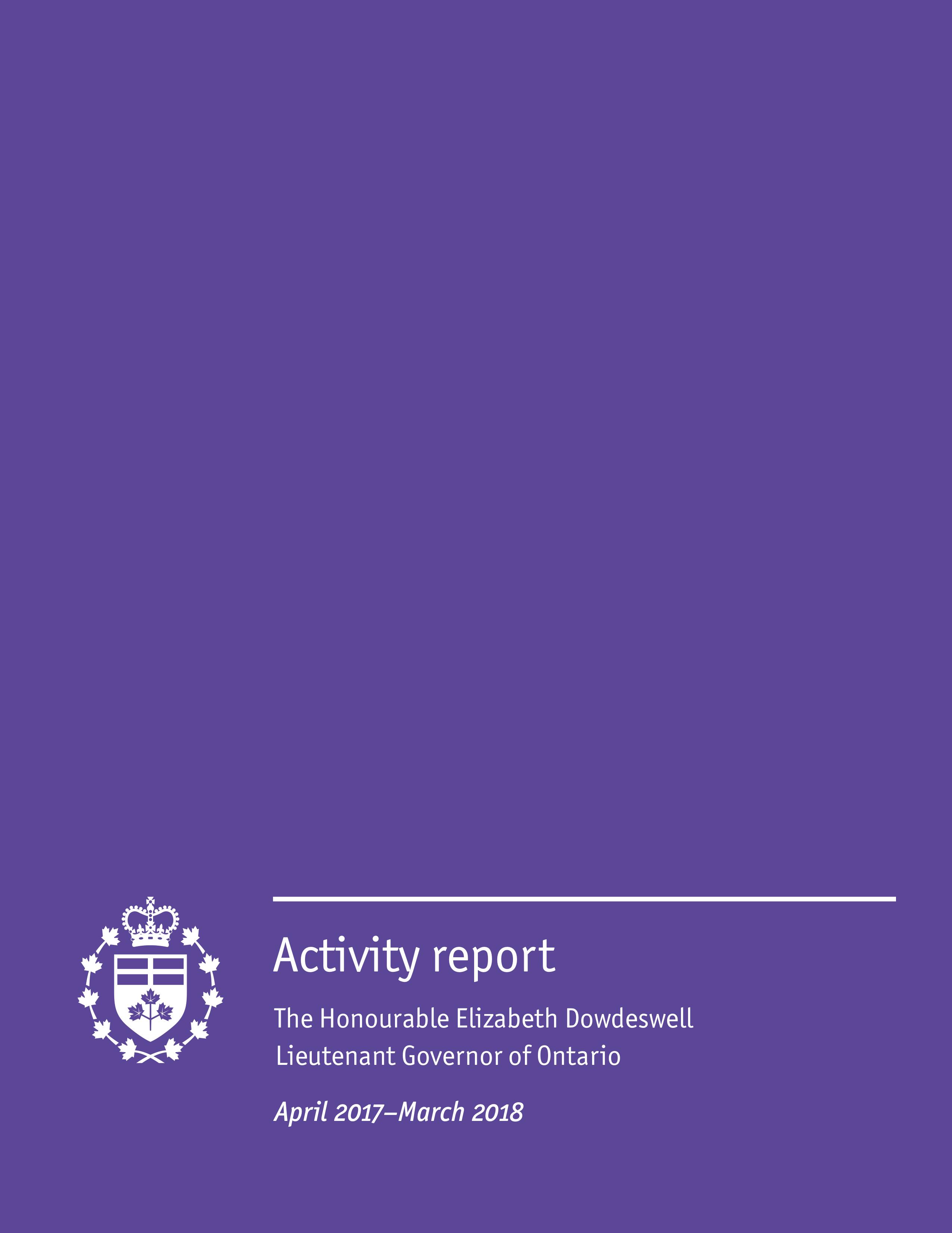 Publication: Activity report (April 2017–March 2018)