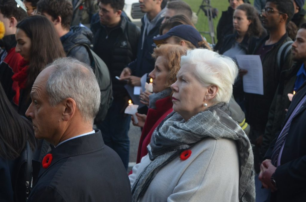 Vigil at the University of Toronto