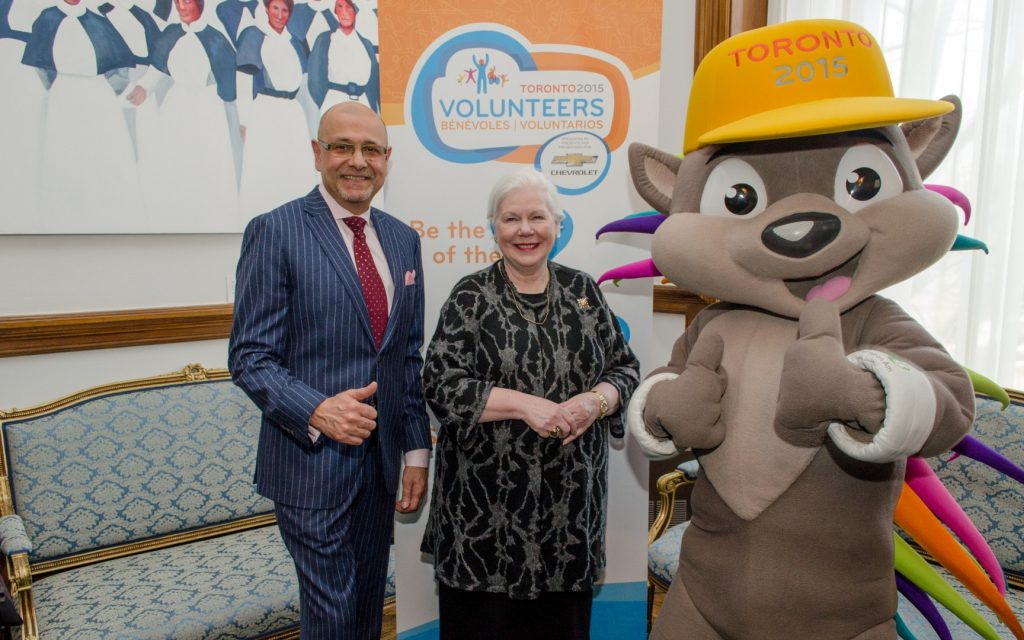 Saad Rafi and Her Honour stand in the Lieutenant Governor's Suite with Pachi