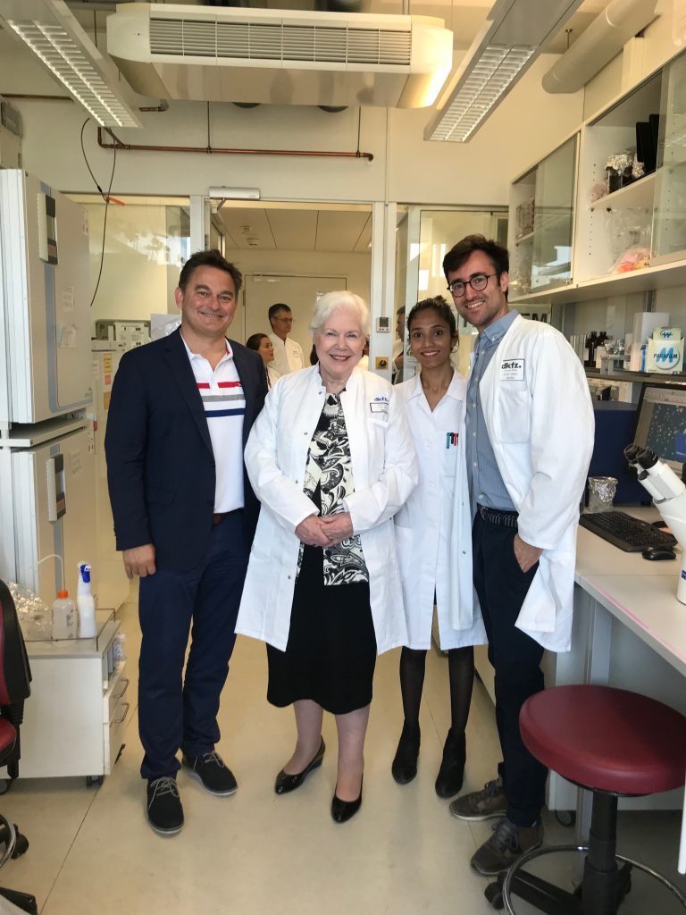The Lieutenant Governor with Drs from the German Cancer Research Centre