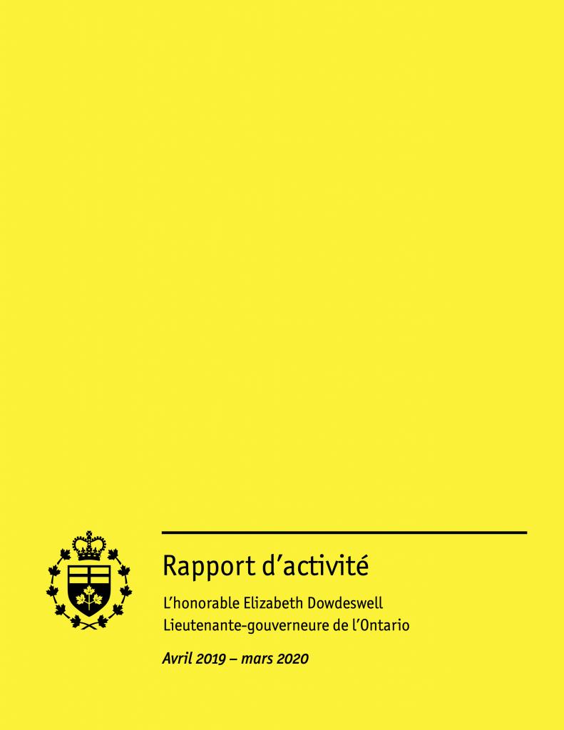 Rapport d'activité (Avril 2019 – mars 2020)